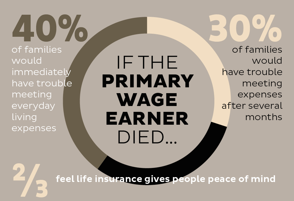 statistic - life insurance if wage earner dies